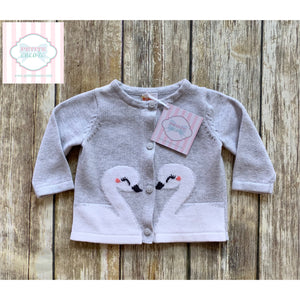 Swan themed cardigan by Gymboree 0-3m