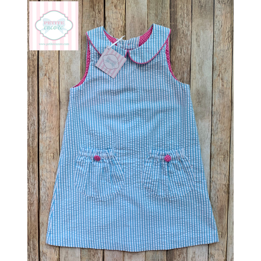 Seersucker dress by Kelly's Kids 6-7