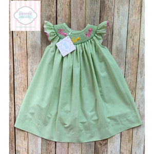 Easter themed smocked dress by Silly Goose 12m