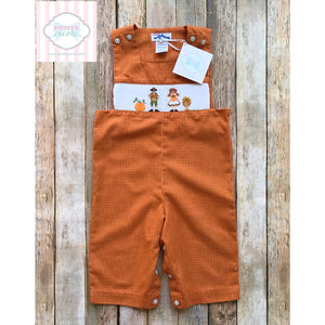 Thanksgiving themed smocked one piece 12m