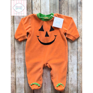 Pumpkin themed one piece 6m