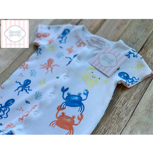 Crab themed one piece by Minoti Baby 3-6m