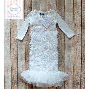 Mud Pie Baby gown 0-3m