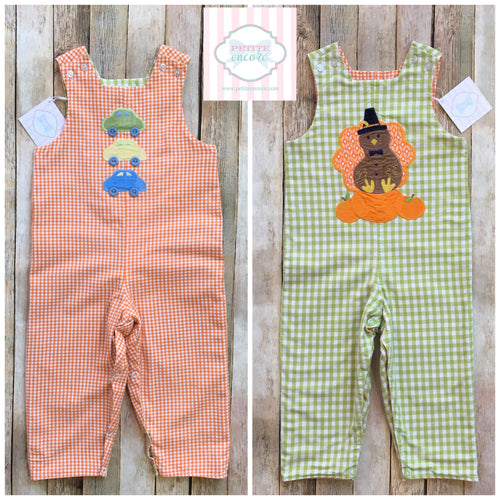 Bailey Boys reversible Thanksgiving themed one piece 2T