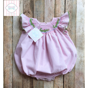 Alligator themed smocked bubble 9m