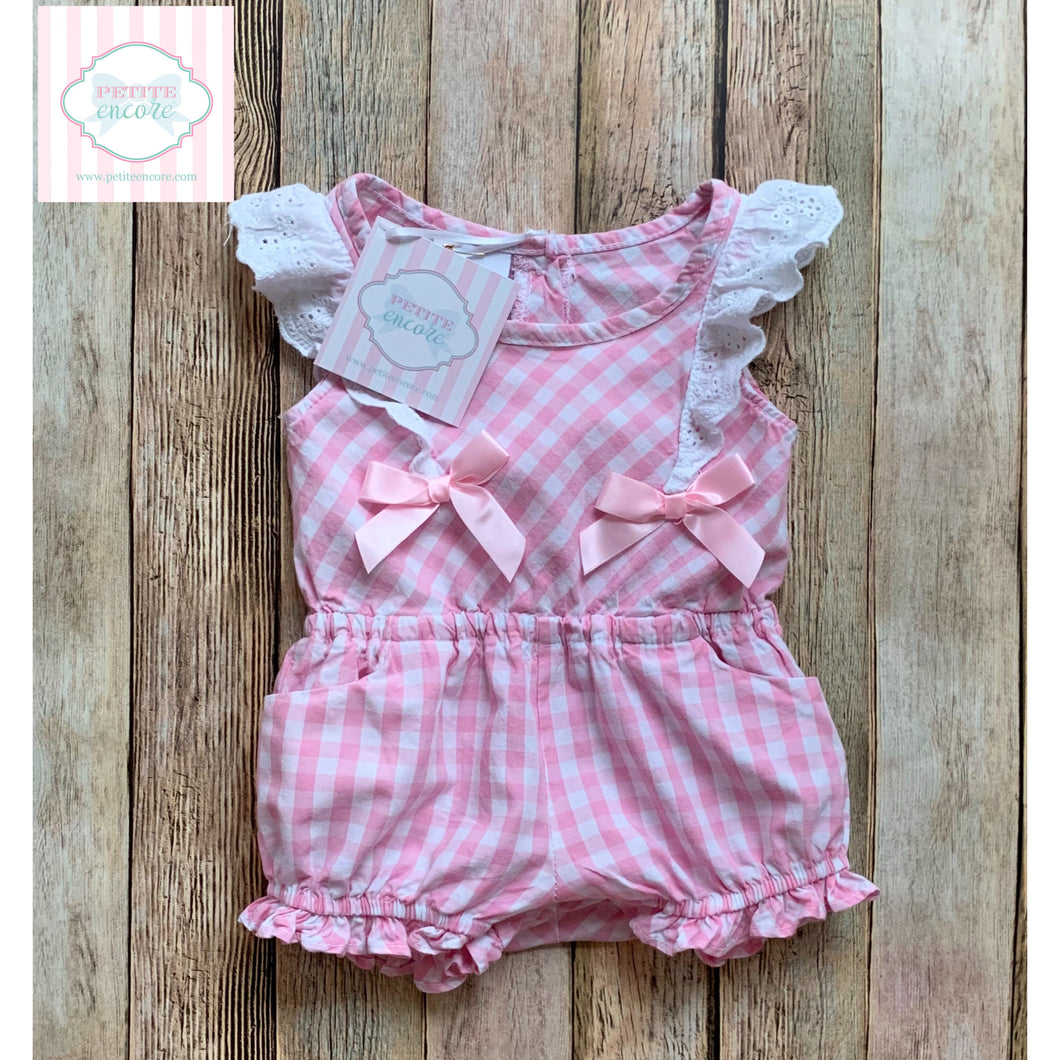 Gingham one piece 3-6m