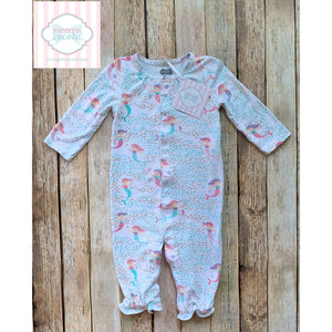 Mud Pie Baby mermaid themed one piece 0-3m