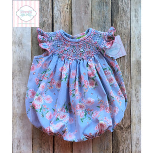 Floral smocked bubble 3m