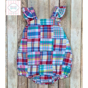 Plaid one piece 24m