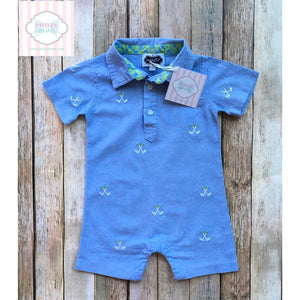 Mud Pie golf themed one piece 6-9m