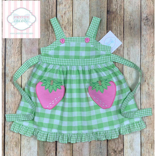 Strawberry themed dress 12m