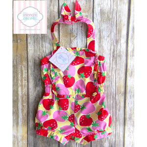 Gymboree strawberry one piece 6-12m
