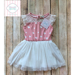 Heart themed dress by Lily Bleu 18m