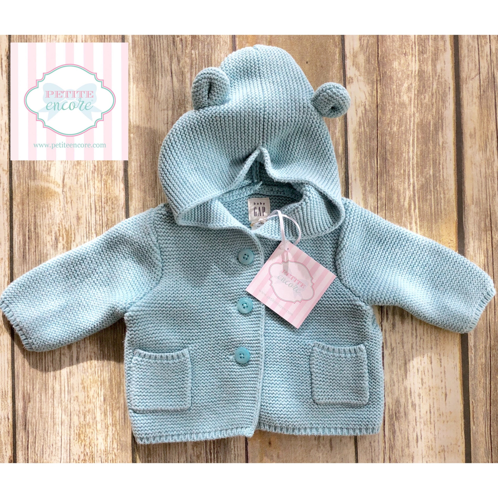 c8587a9d336c Baby Gap hooded sweater 0-3m – Petite Encore