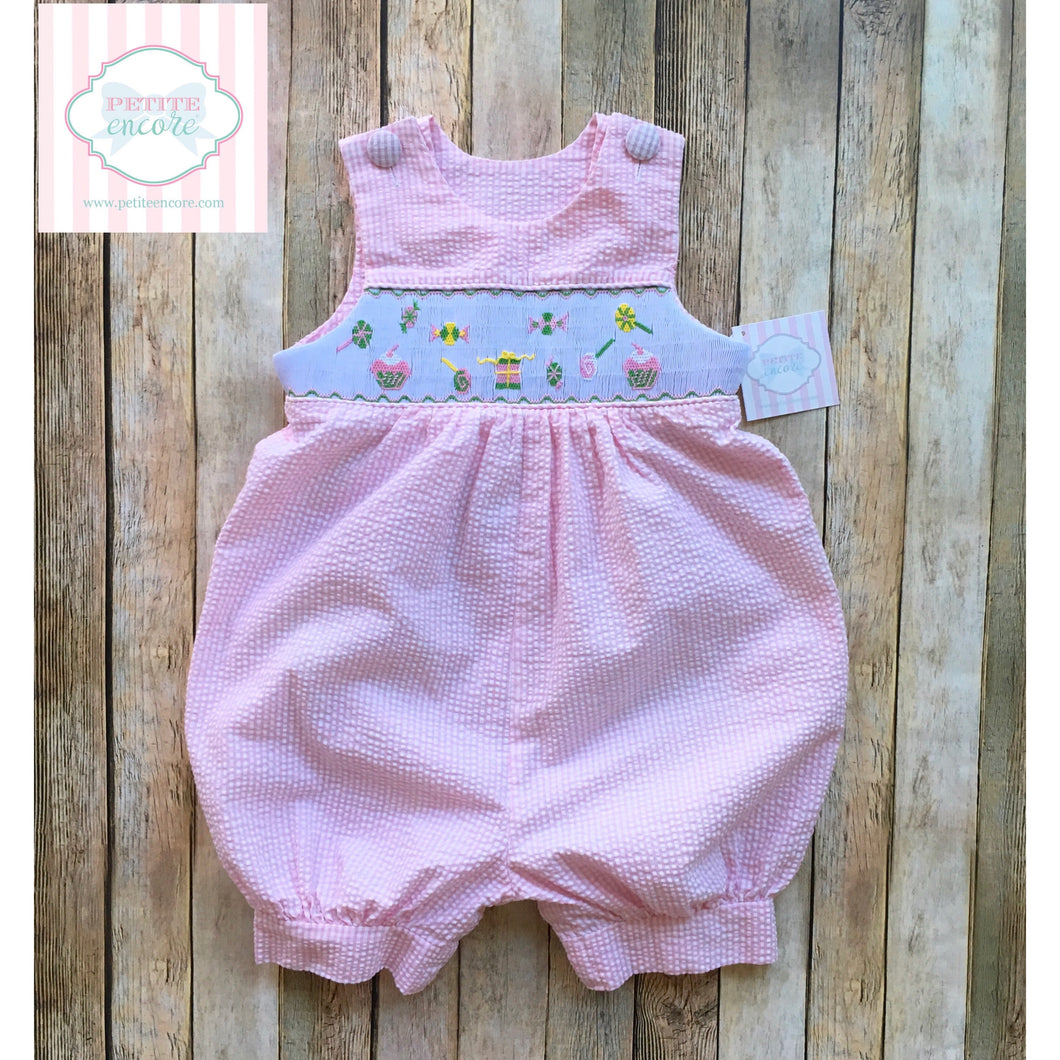 Smocked one piece 24m