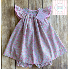 Floral smocked dress by Petit Ami 9m
