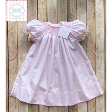 Hand smocked Heirloom style dress 12m