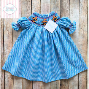 Halloween themed smocked dress 6m