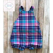 Janie and Jack Plaid bubble 18-24m