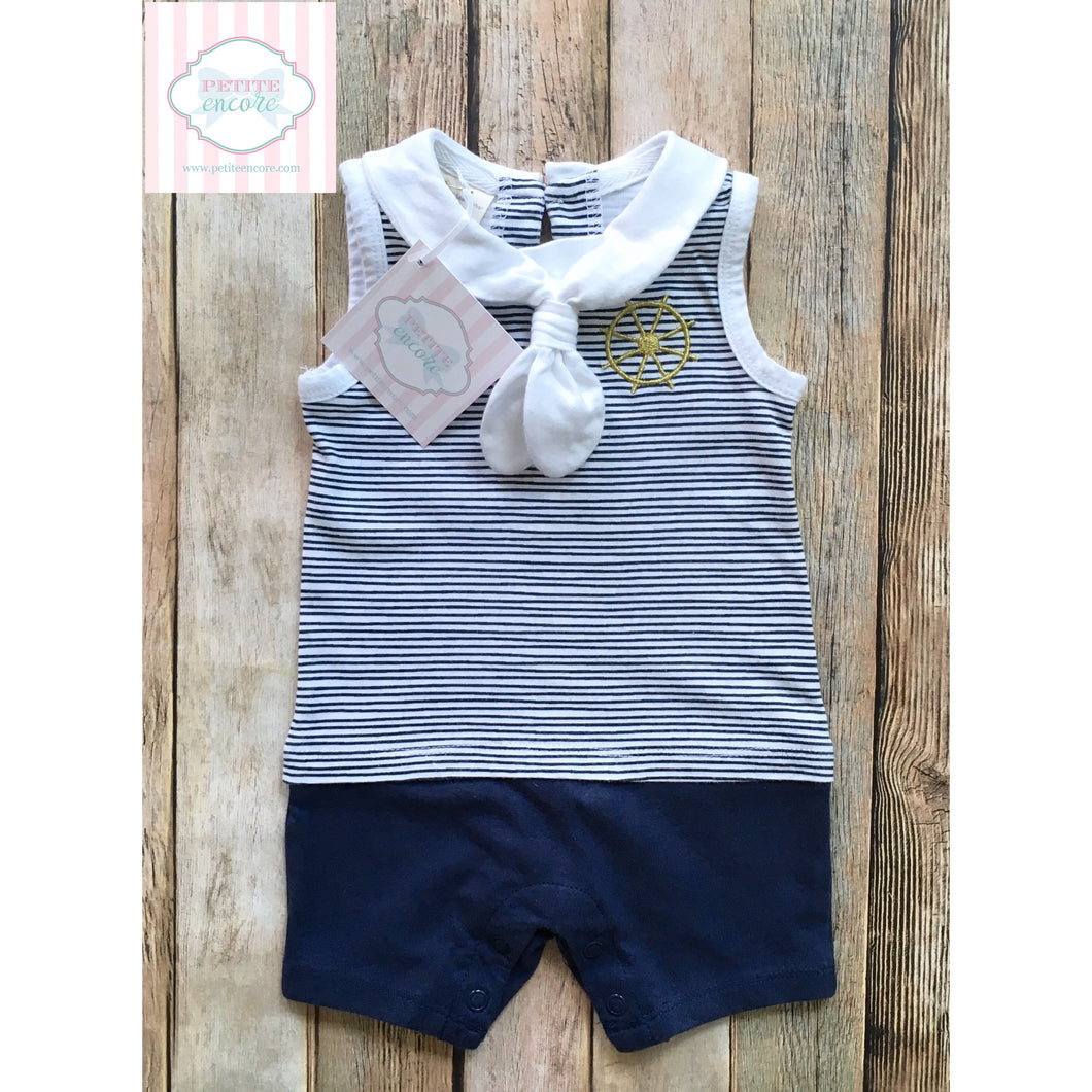 Nautical one piece 0-3m