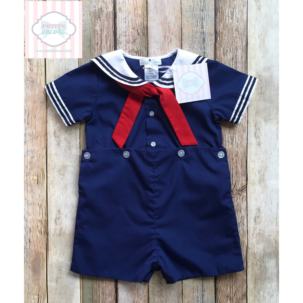 Nautical one piece by Petit Ami 6m