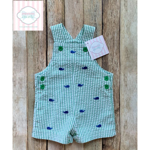 Whale themed overalls by Little Me 6m