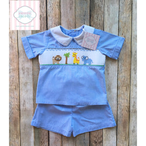 Smocked two piece 18m