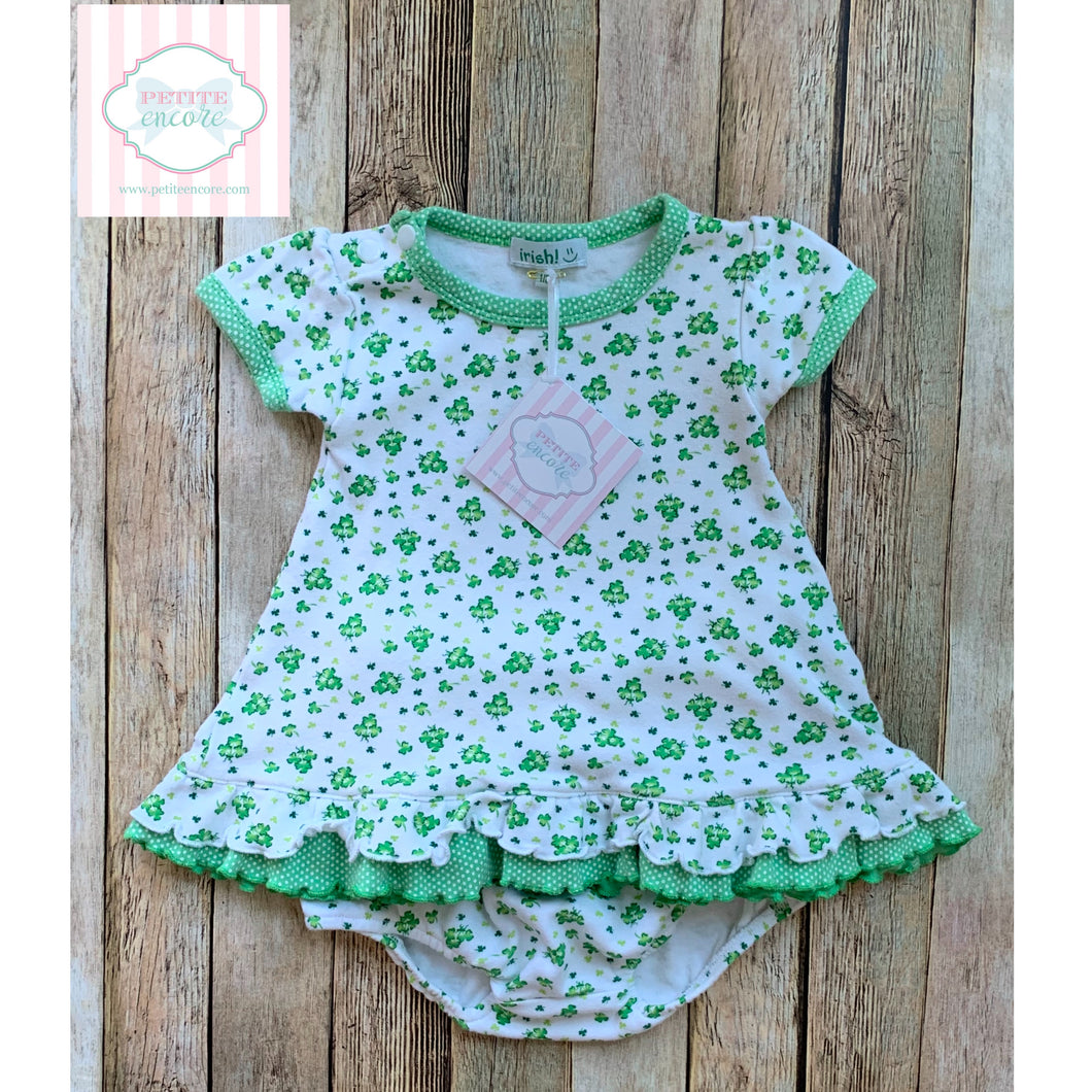 Shamrock themed two piece 1-2 years
