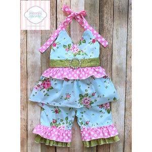 Floral two piece by My Vintage Baby 12m