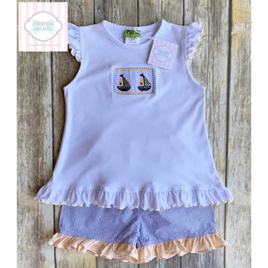 Smocked set by Stelly Belly 6