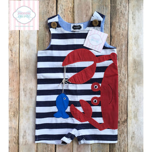 Crab themed one piece by Mud Pie Baby 12-18m
