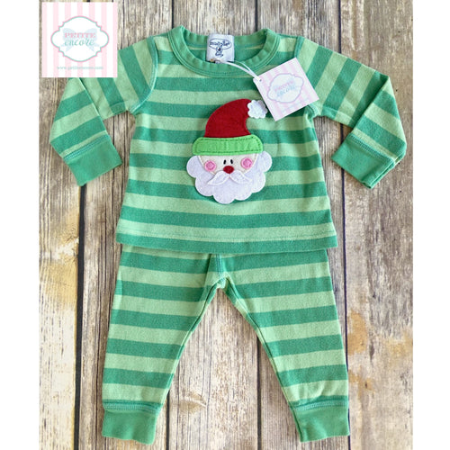 Mud Pie Santa themed pajamas 9-12m