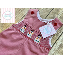 Snowman themed smocked one piece 3m