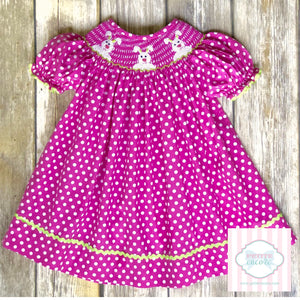 Smocked Easter dress 6m