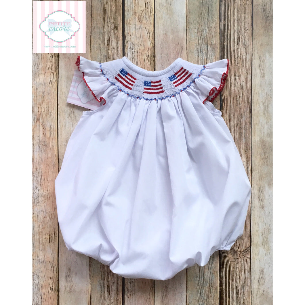 Patriotic smocked bubble 24m