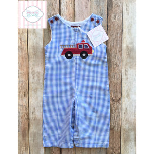 Fire truck themed one piece 3-6m