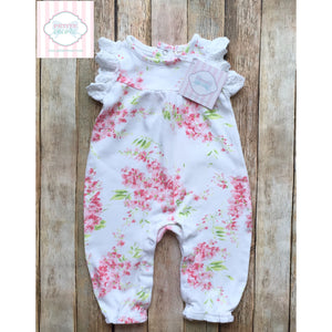 Laura Ashley floral one piece 3-6m