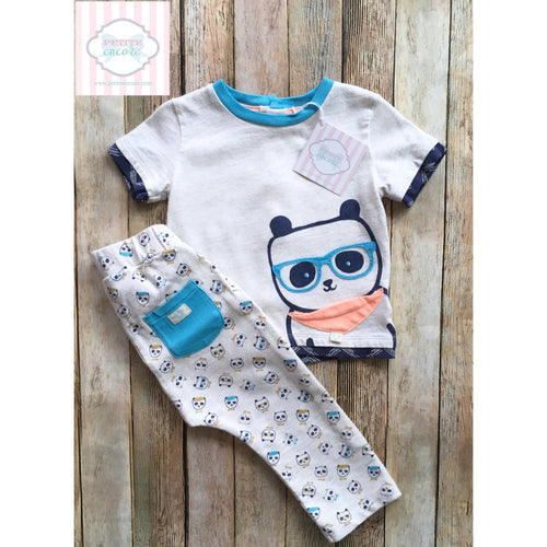 Panda themed two piece 6-9m