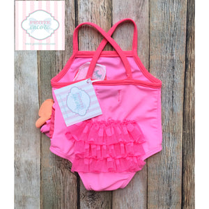 Flamingo themed swimsuit by Mud Pie Baby 0-6m