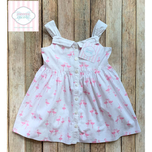 Flamingo dress by Janie and Jack 12-18m