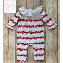 Janie and Jack rose themed one piece 3-6m