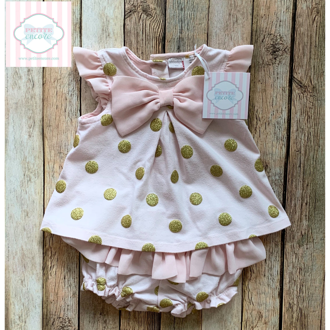 Polka dot two piece 3-6m