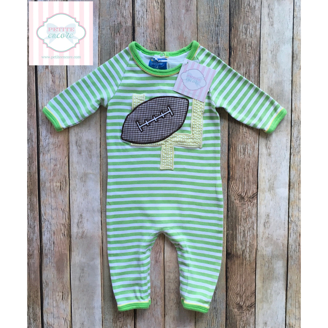 Football themed one piece by Mud Pie Baby 0-6m
