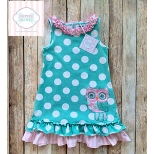 Owl themed dress by Counting Daisies 4T