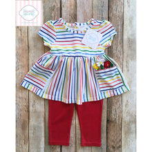 Rainbow two piece outfit 6-9m