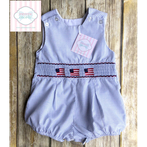 Smocked bubble by The Bailey Boys 9m