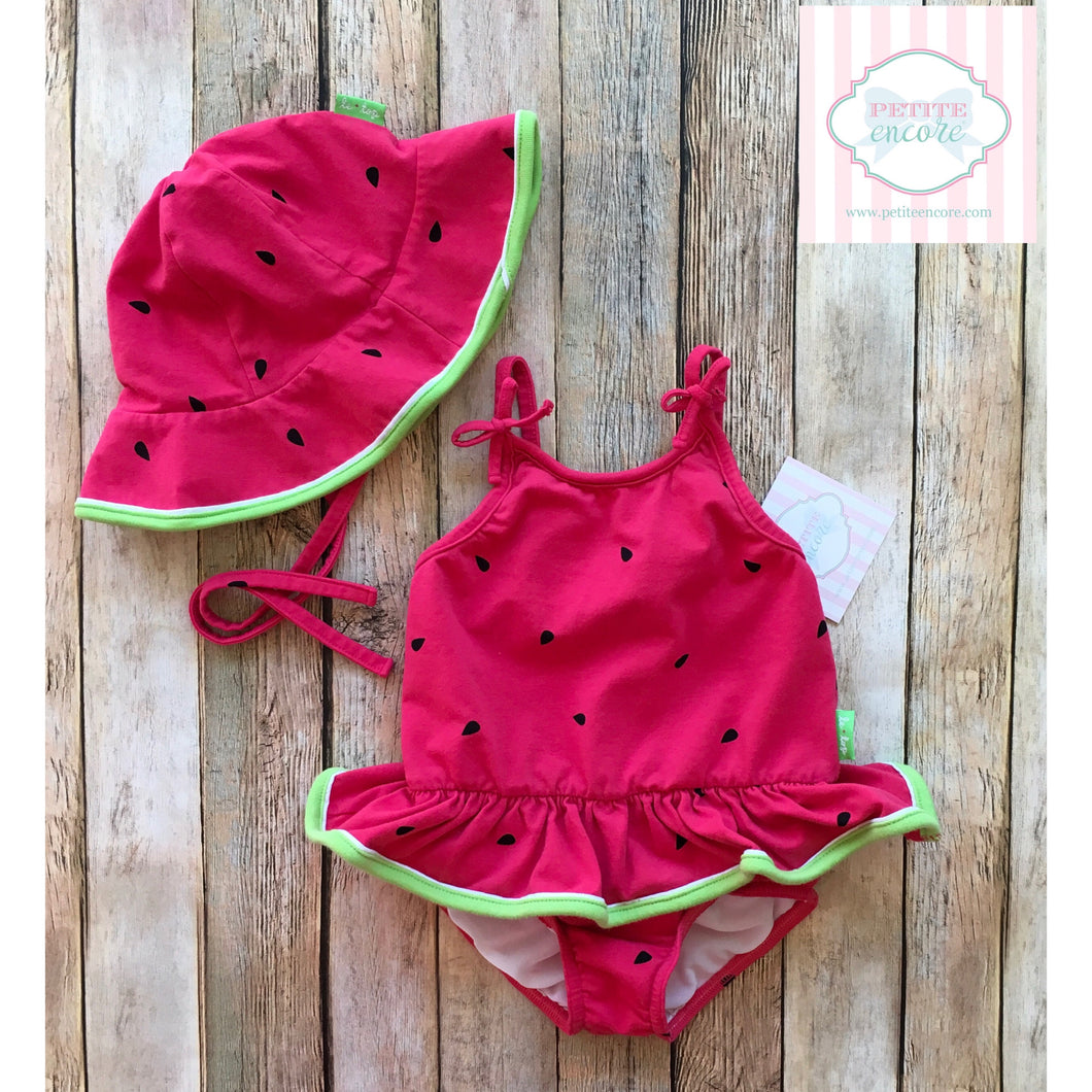 Le Top one piece swimsuit with hat 3T
