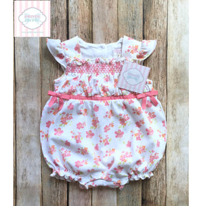 Janie and Jack floral bubble 3-6m
