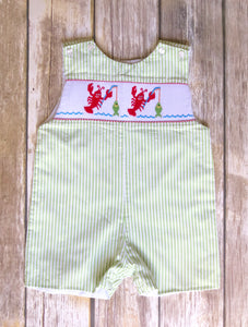 Smocked one piece 12m
