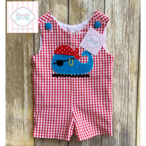 Pirate whale themed one piece by Stelly Belly 6m